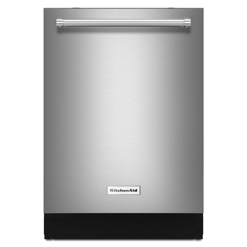 hight resolution of kitchenaid top control built in tall tub dishwasher in printshield stainless with fan enabled