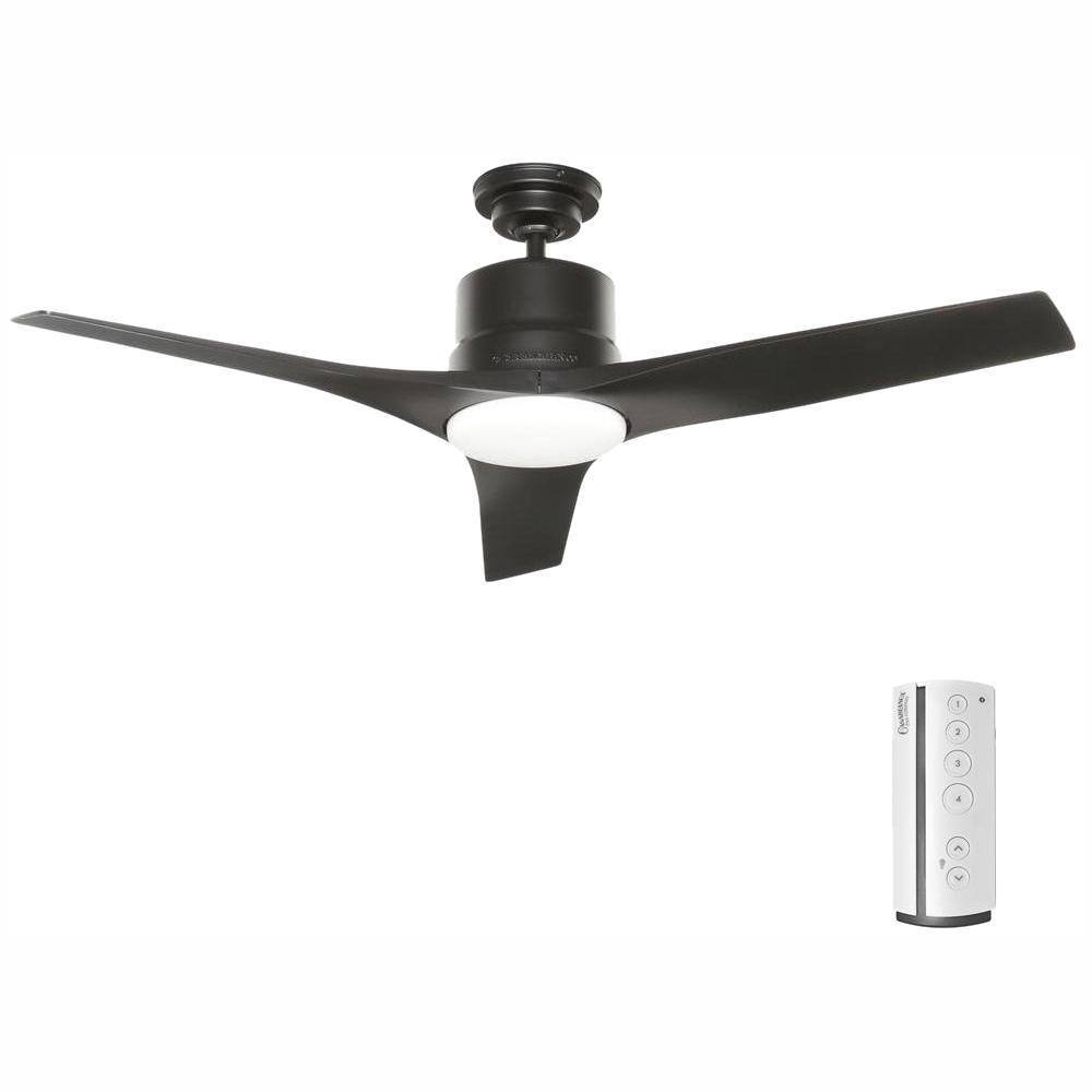 medium resolution of casablanca piston 52 in led indoor outdoor matte black ceiling fan casablanca ceiling fan wiring diagram