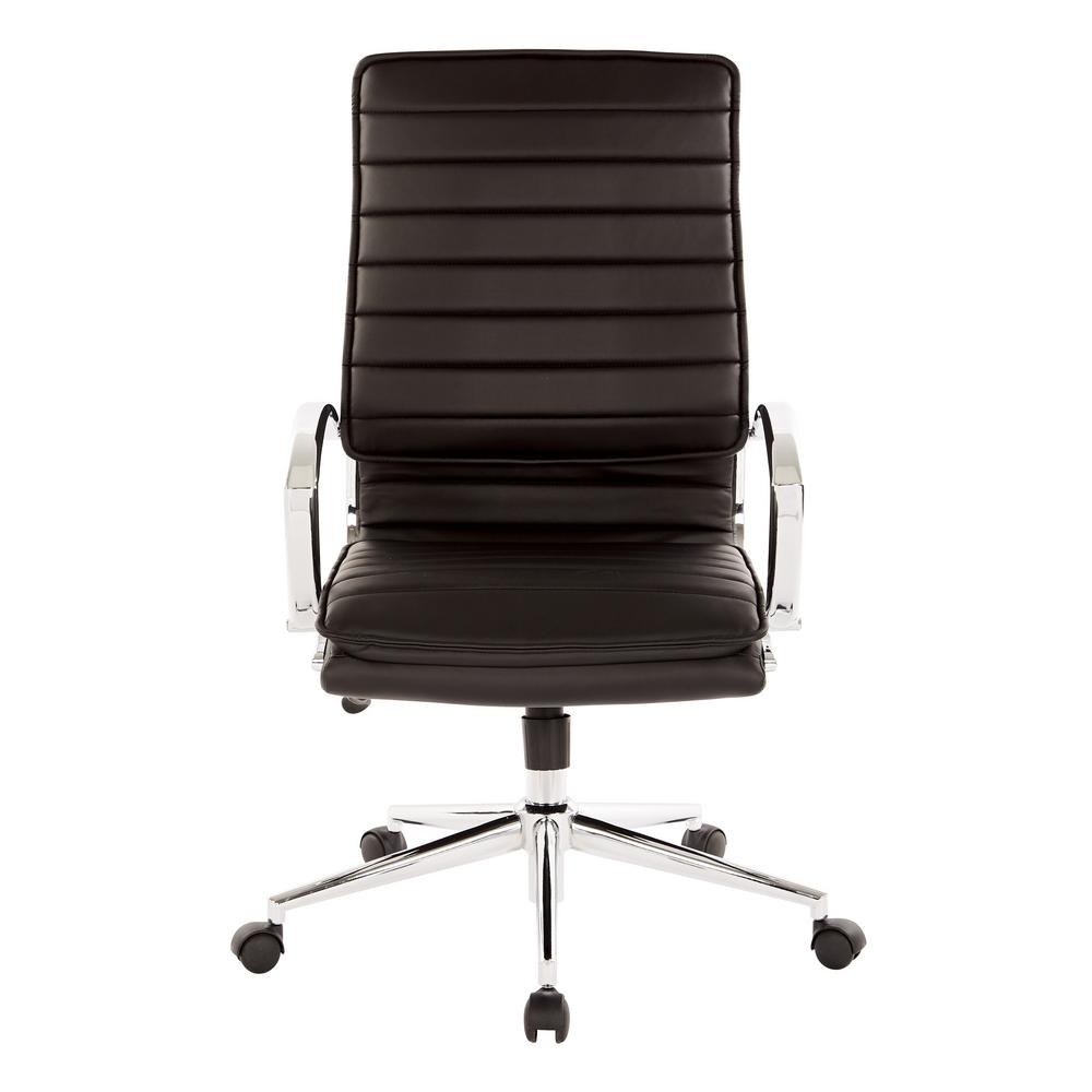 black leather office chair high back flip out bed pro line ii manager s faux