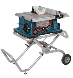 corded portable jobsite table saw with gravity rise wheeled stand [ 1000 x 1000 Pixel ]