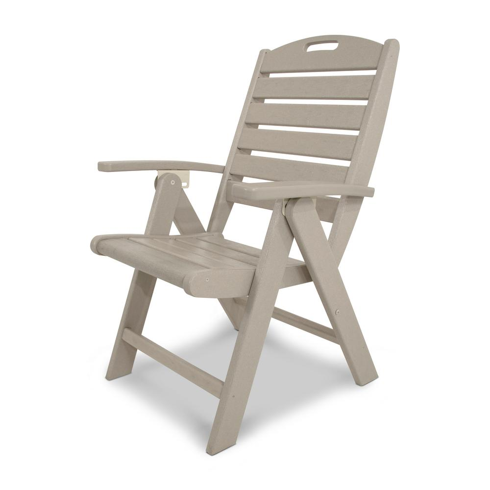 Patio Folding Chairs Trex Outdoor Furniture Yacht Club Sand Castle Highback Patio Folding Chair