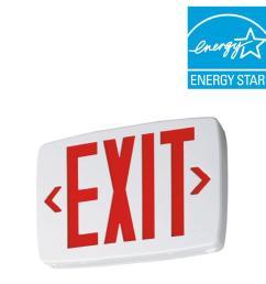 lithonia lighting 2 light plastic led white exit sign emergency rh homedepot com crante lithonia led [ 1000 x 1000 Pixel ]