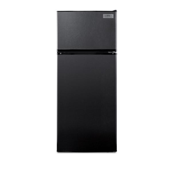Summit Appliance 10.3 Cu. Ft. Frost Free Upright Top Freezer Refrigerator In Black Energy Star
