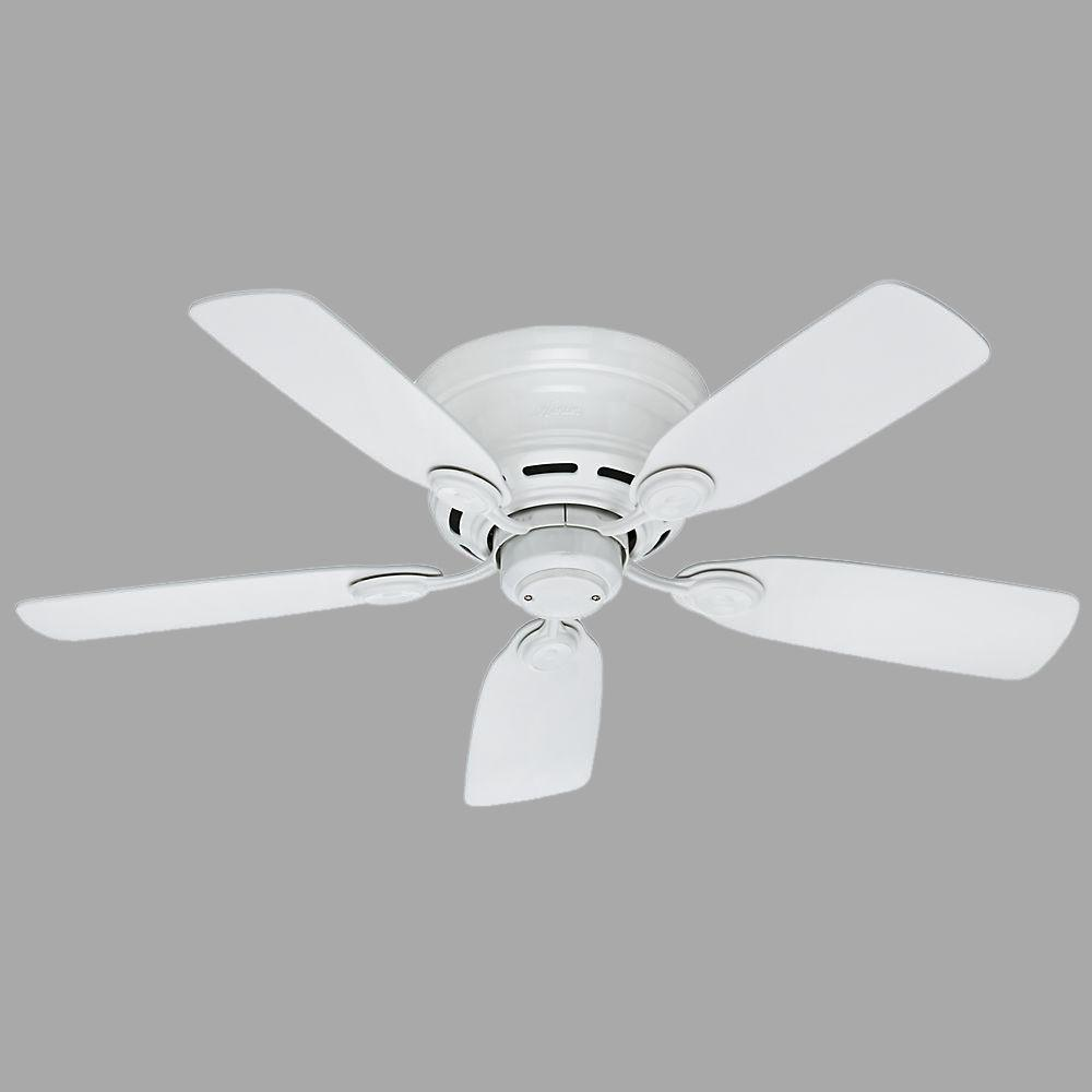 Low Profile 42 in. Indoor Snow White Ceiling Fan
