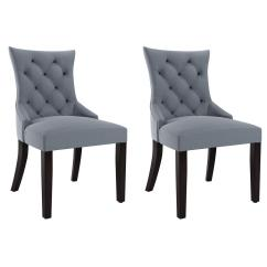 Blue Pattern Accent Chair Dining Room Sets With Bench And Chairs Corliving Antonio Grey Fabric Set Of 2 Lad 471 C