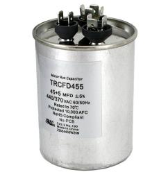 packard 440 volt 45 5 mfd dual rated motor run round capacitor [ 1000 x 1000 Pixel ]