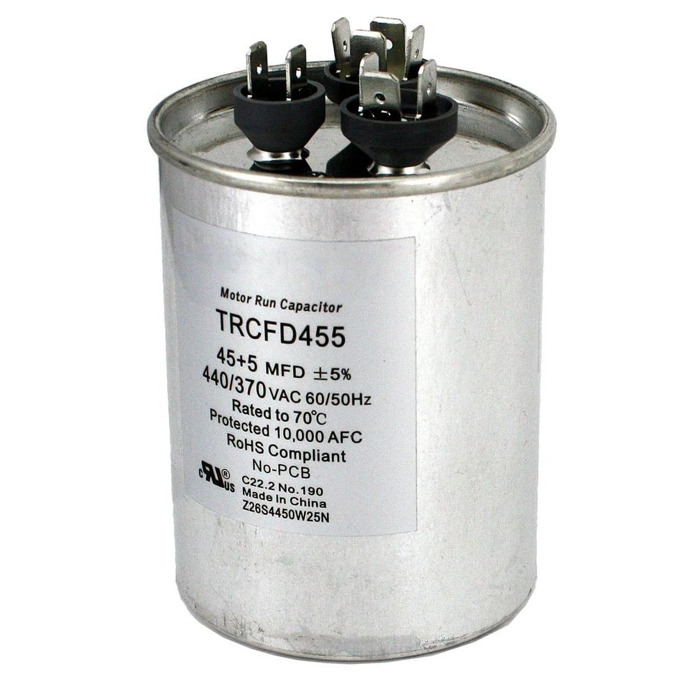 medium resolution of packard 440 volt 45 5 mfd dual rated motor run round capacitor