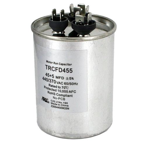 small resolution of packard 440 volt 45 5 mfd dual rated motor run round capacitor