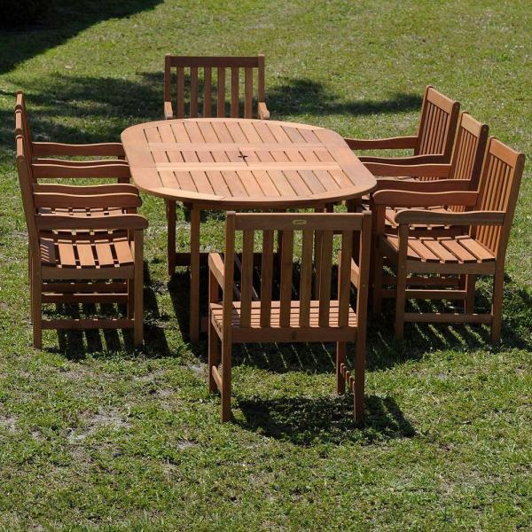 Milano Grand Deluxe 9-piece Extendable Patio Dining Set-bt Grd Ext Del - Home Depot
