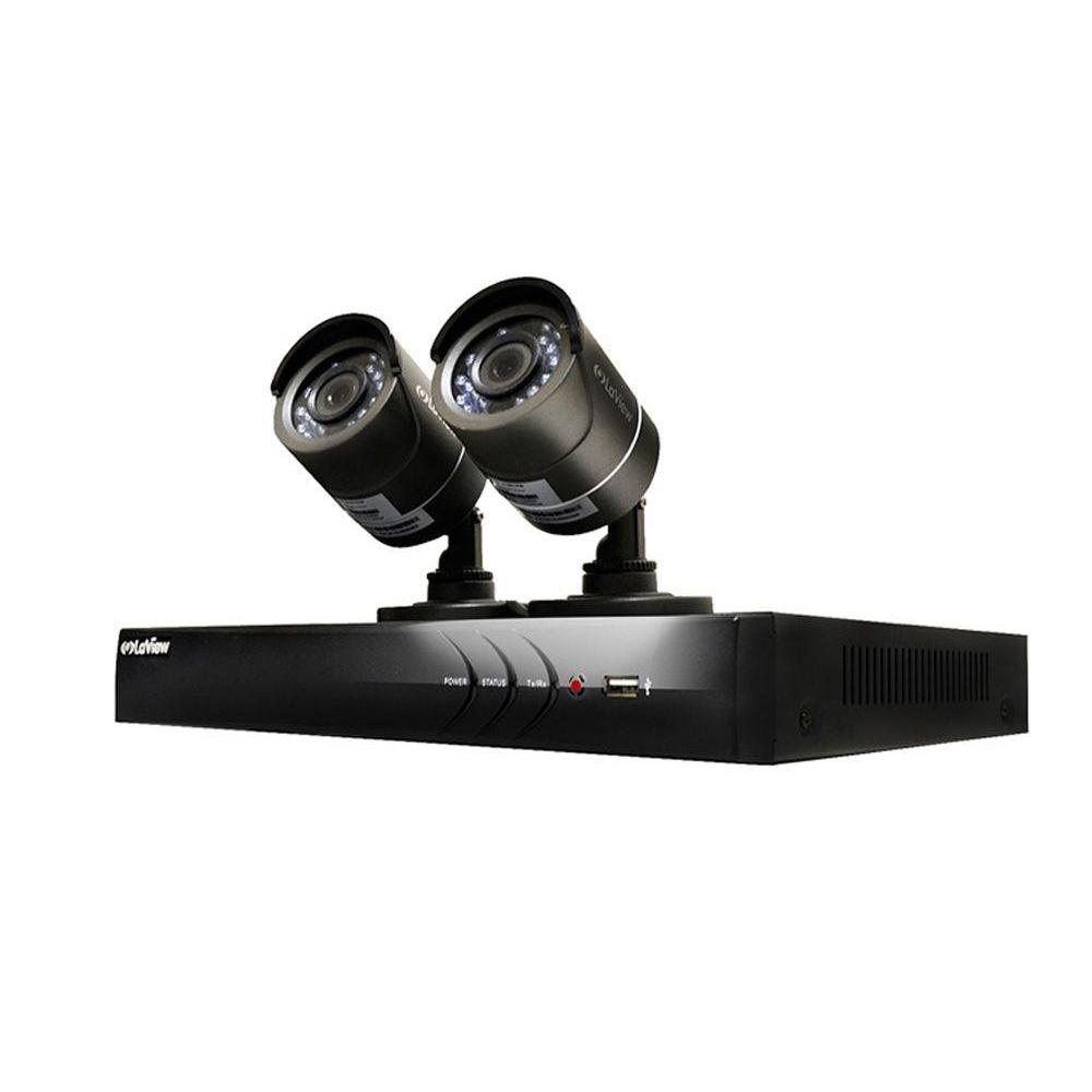 medium resolution of 4 channel hd 1tb hdd indoor outdoor surveillance system and 2 720p camera ptz compatible remote viewing