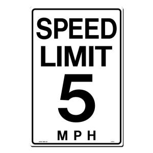 Lynch Sign 12 in. x 18 in. Speed Limit 5 M.P.H. Sign