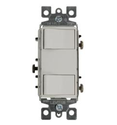 15 amp commercial grade combination two single pole illuminated rocker switches  [ 1000 x 1000 Pixel ]