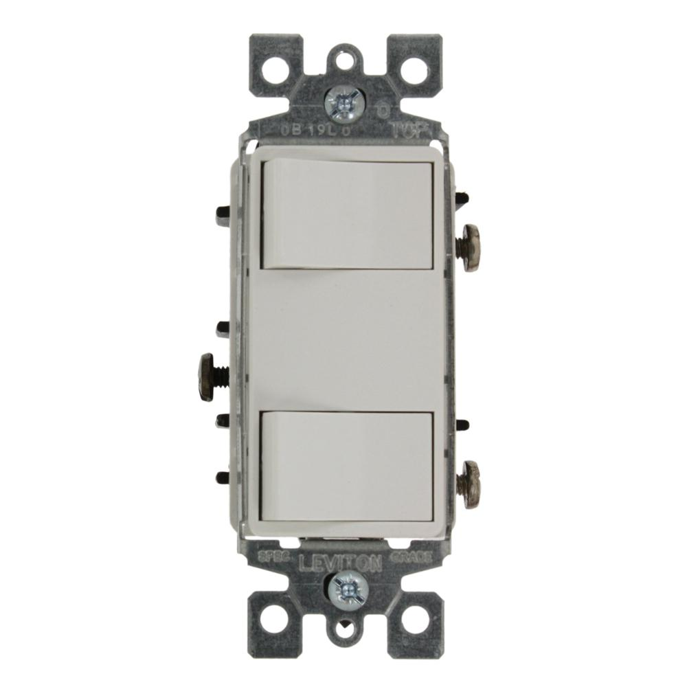 medium resolution of 15 amp commercial grade combination two single pole illuminated rocker switches