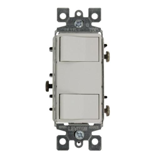 small resolution of 15 amp commercial grade combination two single pole illuminated rocker switches