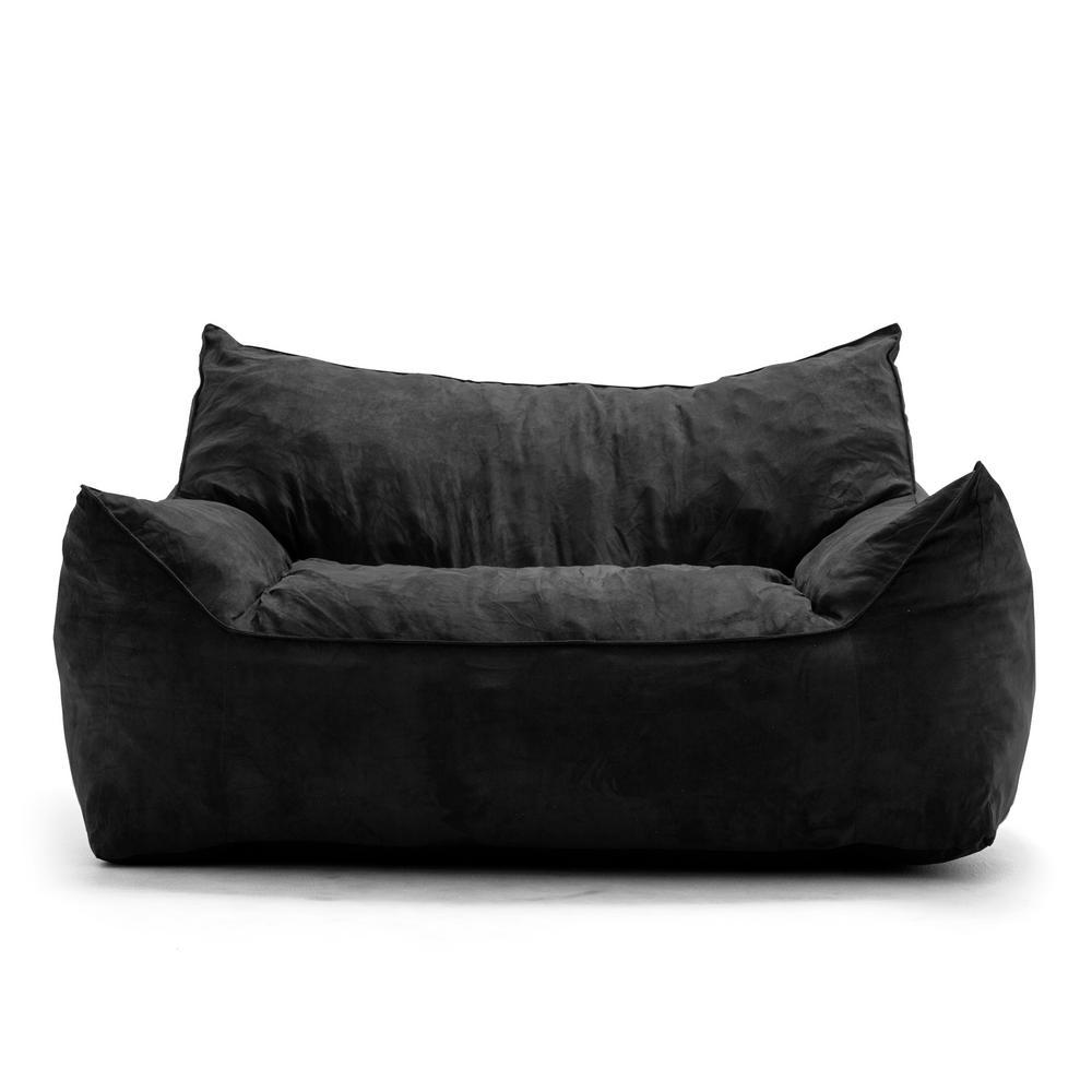 big joe bean bag chair mossy oak camping imperial fufton shredded ahhsome foam black comfort suede plus