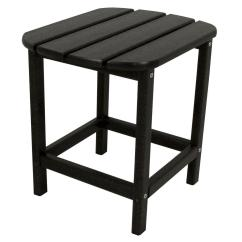 Home Depot Adirondack Chair Plastic Dwr Salt Polywood South Beach 18 In. Black Patio Side Table-sbt18bl - The