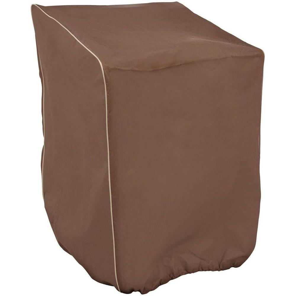 home depot stacking chair covers ergonomic mr bar b q 30 in x 27 48 brown cover