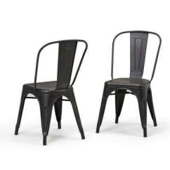 Black Parsons Chair Pc Gaming Metal Dining Chairs Kitchen Fletcher Distressed And Copper Side Set Of 2