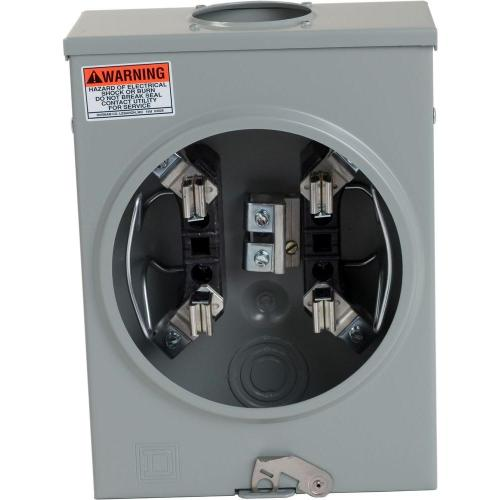small resolution of square d 125 amp ringless overhead meter socket