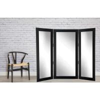 Full Body Black Trifold Dressing Mirror-BM2TRIFOLD - The ...