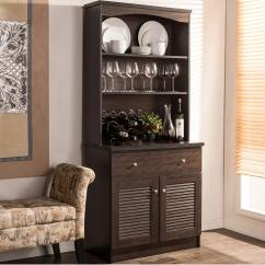 Kitchen Buffet Hobart Equipment Baxton Studio Agni Dark Brown Wood With Hutch 28862 6493 Hd