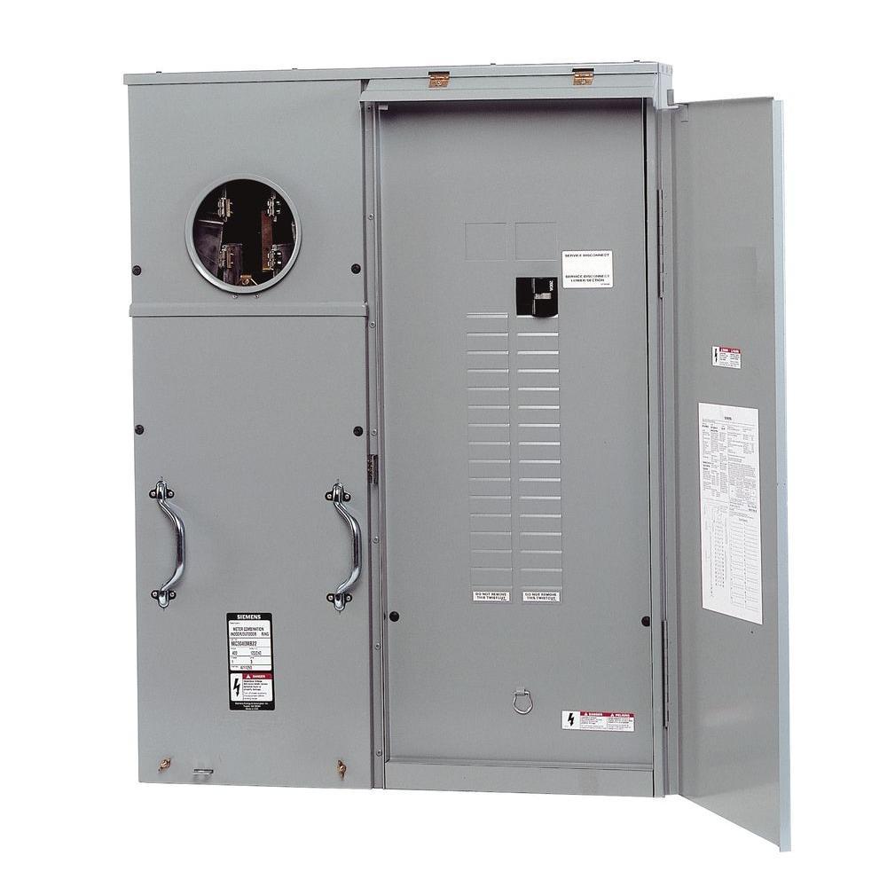 medium resolution of siemens 400 amp 30 space 42 circuit surface mount underground fed meter load center