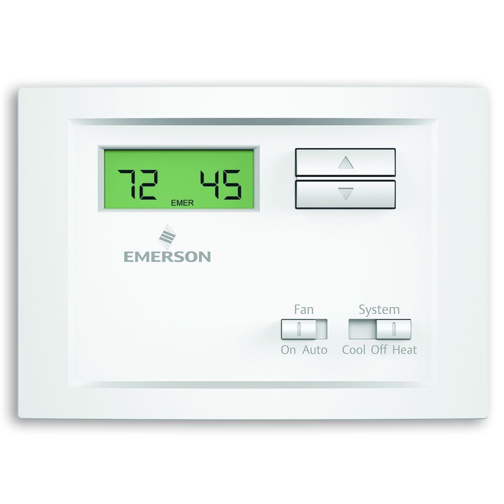hight resolution of emerson single stage non programmable thermostat
