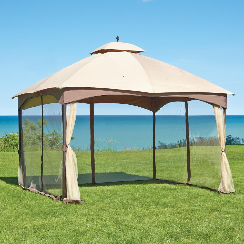 Hampton Bay Massillon 10 ft. x 12 ft. Double Roof Gazebo