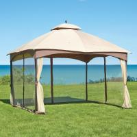 Hampton Bay Massillon 10 ft. x 12 ft. Double Roof Gazebo-L ...