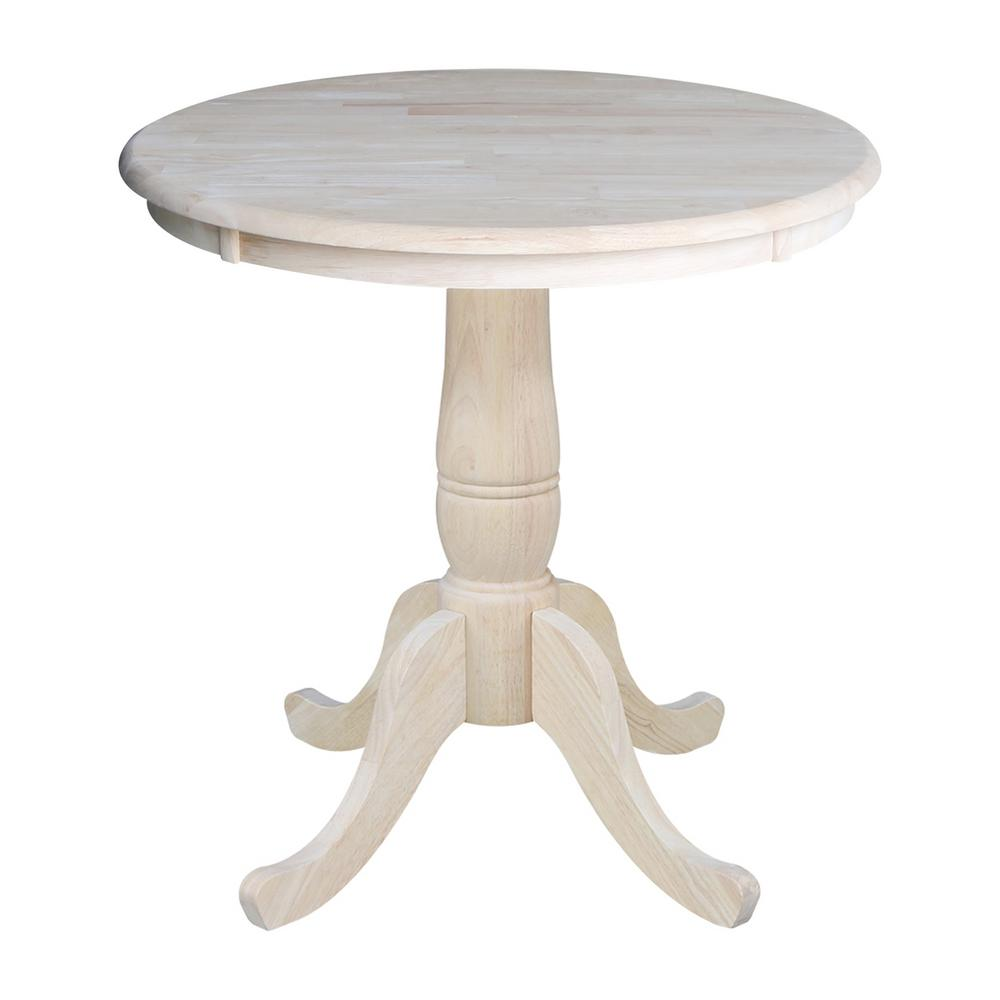 pedestal kitchen table kitchens remodel international concepts unfinished dining k 30rt the