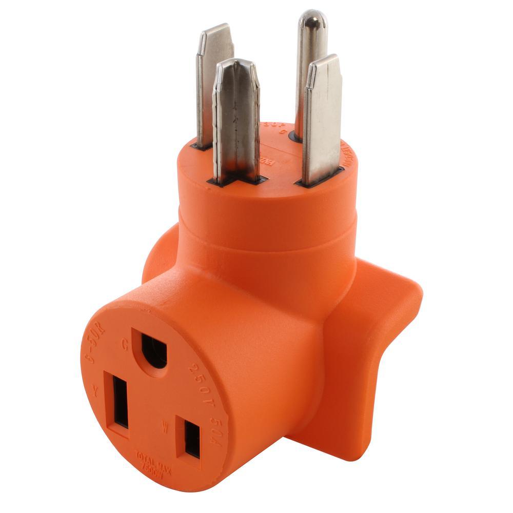 hight resolution of ac works plug adapter 30 amp 4 prong dryer nema 14 30p plug to