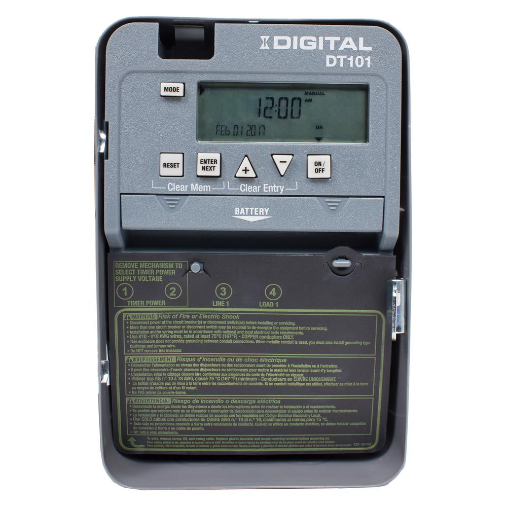 hight resolution of 20 amp 24 hour spst 1 circuit digital time switch with indoor enclosure