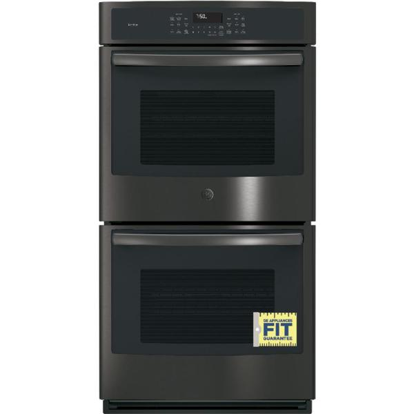 Ge 27 In. Double Electric Wall Oven -cleaning With Steam In Black-jk3500dfbb - Home Depot