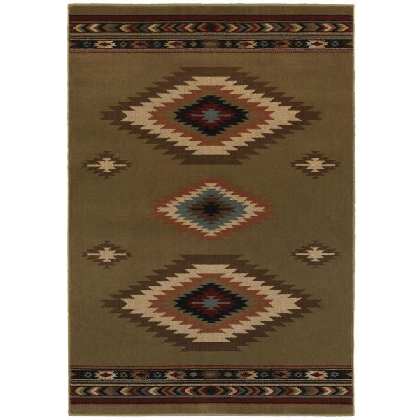 Home Decorators Collection Aztec Green 10 Ft. X 12 Area Rug-90g - Depot