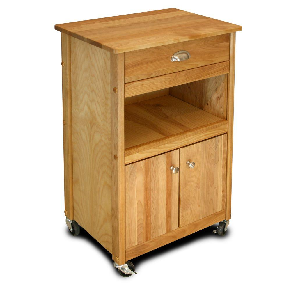 Catskill Craftsmen Natural Kitchen Cart With Storage64024