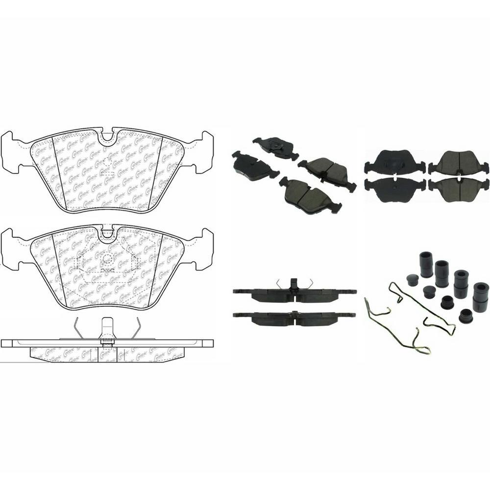 hight resolution of posi quiet ceramic disc brake pad w shims hardware front