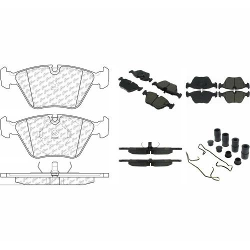 small resolution of posi quiet ceramic disc brake pad w shims hardware front
