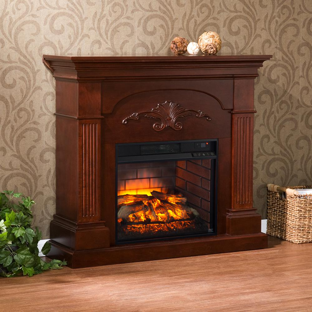 Dover 4475 in W Infrared Electric Fireplace in MahoganyHD91234  The Home Depot