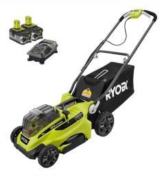 exmark mower ryobi 16 in one 18 volt lithium ion cordless battery walk behind on  [ 1000 x 1000 Pixel ]