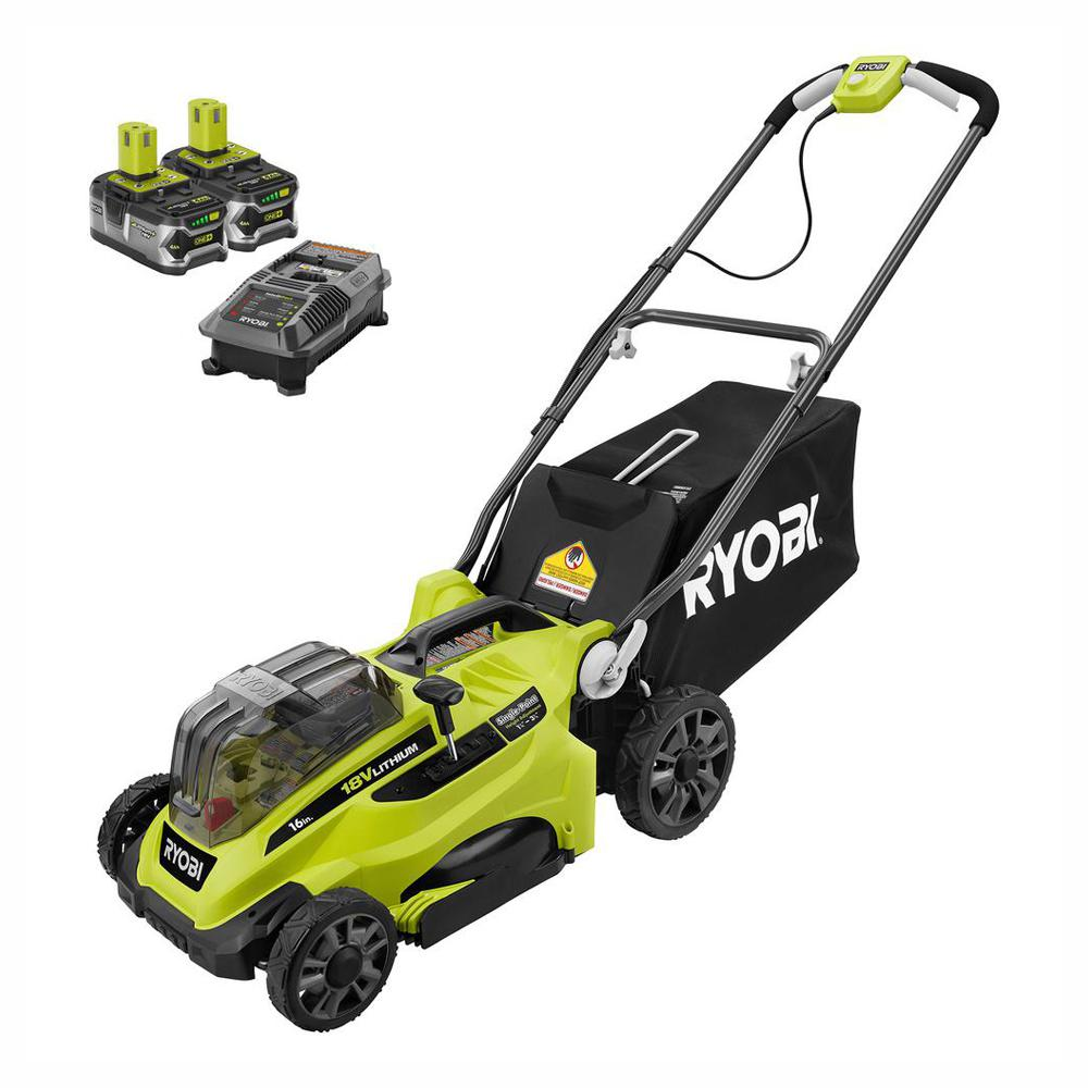 hight resolution of  lawn mower ryobi 16 in one 18 volt lithium ion cordless battery walk behind on ryobi cordless mower wiring diagram wiring
