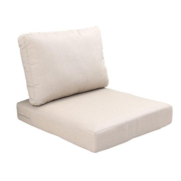 outdoor patio furniture replacement cushions Hampton Bay Beverly Beige Replacement 2-Piece Outdoor