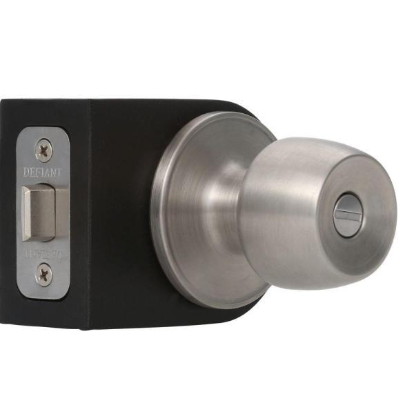 Defiant Brandywine Stainless Steel Privacy Bed Bath Door Knob-t8610 - Home Depot