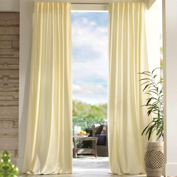Home Decorators Collection Semi-Opaque Cream Outdoor Back ...