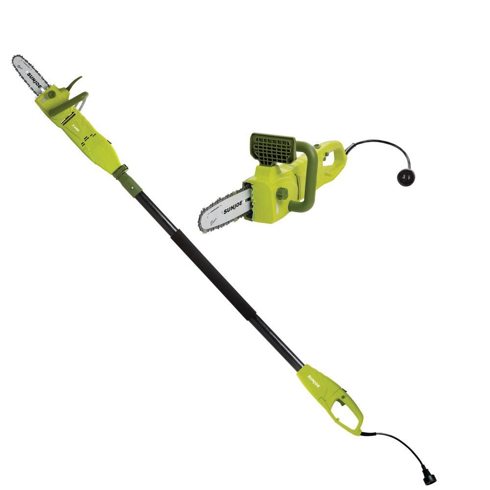 medium resolution of sun joe 2 in 1 8 in 8 amp electric convertible pole chain saw rh homedepot