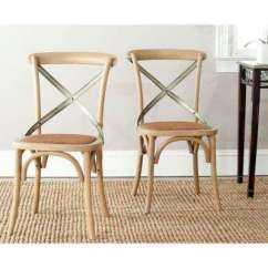 Rattan Living Room Chair Leather Reclining Furniture Sets Wicker The Home Depot Eleanor Weathered Oak X Back Side Set Of 2