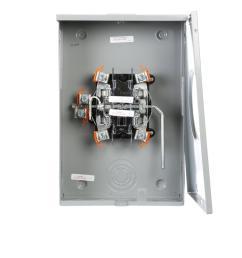 murray 200 amp lever bypass overhead underground meter socket [ 1000 x 1000 Pixel ]