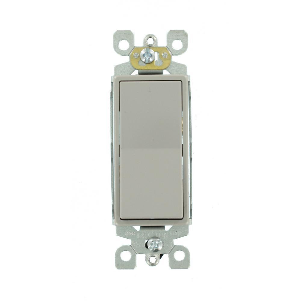 medium resolution of leviton decora 15 amp 3 way rocker switch gray