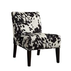 Black And White Accent Chairs With Arms Colorado Ski Homesullivan Cowhide Chair 40468f24s 3a The Home Depot