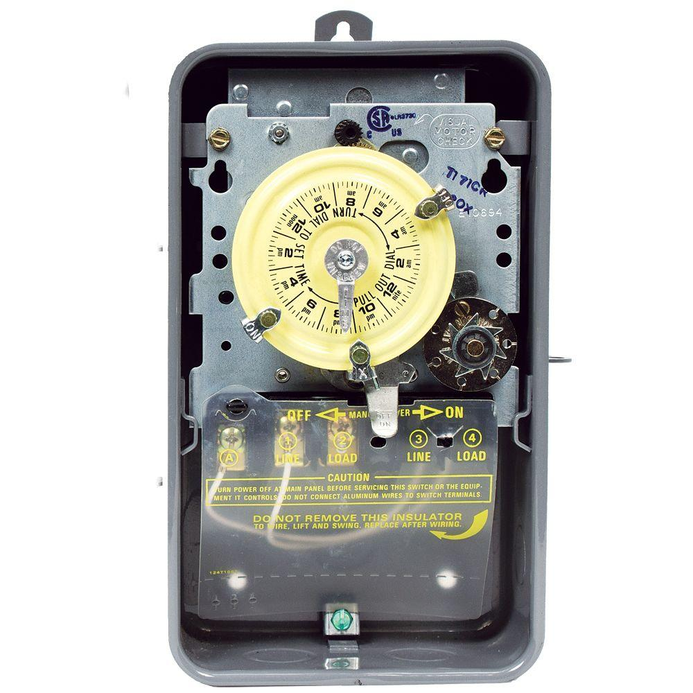 110v Pool Timer Wiring Diagram Intermatic T170 Series 40 Amp 24 Hour Mechanical Time