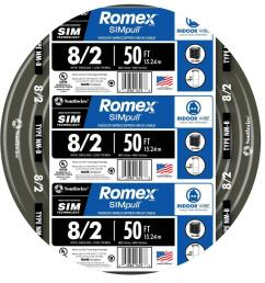 8 2 stranded romex simpull cu nm b w g wire [ 1000 x 1000 Pixel ]